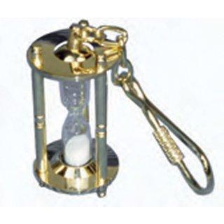 Messing-Schlüsselanhänger Sanduhr
