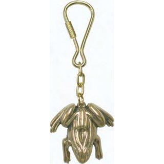 Messing-Schlüsselanhänger Frosch