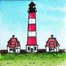 Spiral-Notizbuch 18x22 Leuchtturm Westerhever Sand