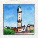 Spiral-Notizbuch 18x22 Leuchtturm Warnemünde