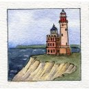 Spiral-Notizbuch 18x22 Leuchtturm Kap Arkona See