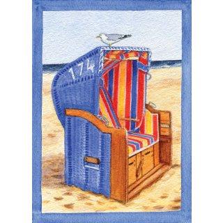 w28211-postkarte-a6-strandkorb-seitlich,-mit-rahmen