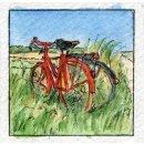 Spiral-Notizbuch 18x22 Fahrrad