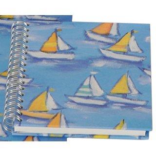 Spiral-Notizbuch Segelboote 12x15 cm