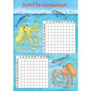 w36208-spielblock-a6-schiffe-versenken-tintenfische+robben