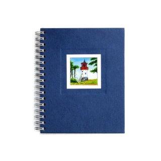 Spiral-Notizbuch 12x15 Leuchtturm Hiddensee Gellen