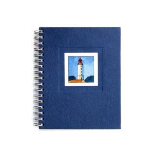 Spiral-Notizbuch 12x15 Leuchtturm Hiddensee Dornbusch