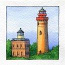 Spiral-Notizbuch 12x15 Leuchtturm Kap Arkona Land