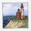 Spiral-Notizbuch 12x15 Leuchtturm Kap Arkona See