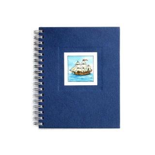 Spiral-Notizbuch 12x15 Segelschiff