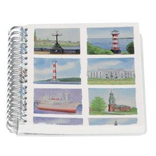Spiral-Notizbuch A6 Hamburg-Impressionen. Motive sortiert