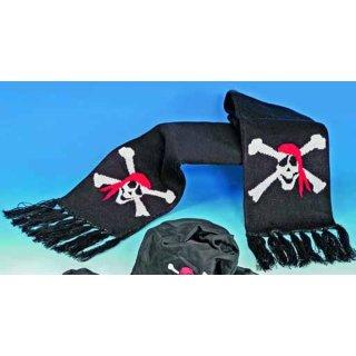 Schal Piratenflagge schwarz
