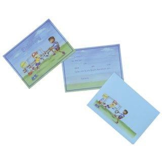Einladungskarten A6 Fußballjungs