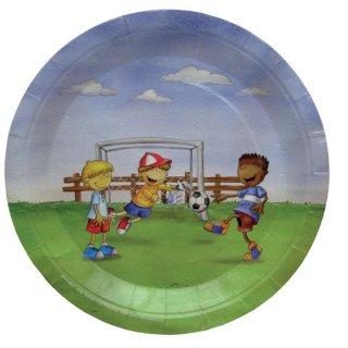 Pappteller Fußballjungs