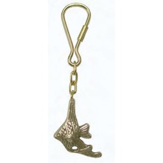 Messing-Schlüsselanhänger Angelfisch