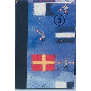 Notizbuch A6 Hardcover blanko Flaggen ABC
