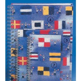 Spiral-Notizbuch 18x22 Flaggen ABC