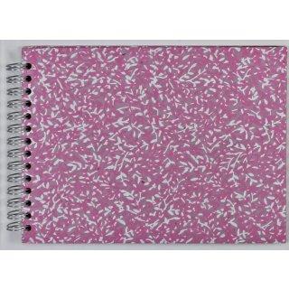 Foto-Spiralalbum 18x13 cm Ranken pink-weiß
