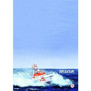 Briefpapier-Block A4 RESCUE-Rettungskreuzer, SAR (Search and Rescue)