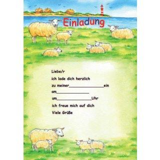 Einladungen A5 Schafe, 25 Blatt
