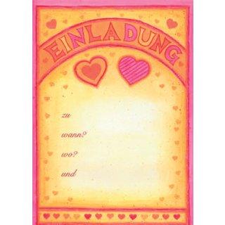 Einladungen A5 Herzen, 25 Blatt