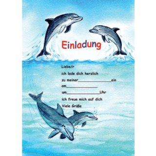 Einladungen A5 Delfine, 25 Blatt