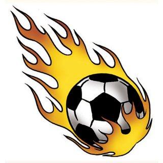 Tattoo Fußballjungs Feuerball