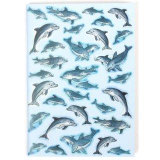 Notizheft A7 Delfine