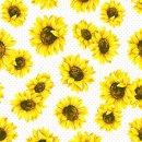 Servietten Sonnenblumengarten