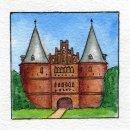 Foto-Spiralalbum 21x21 Lübeck Holstentor