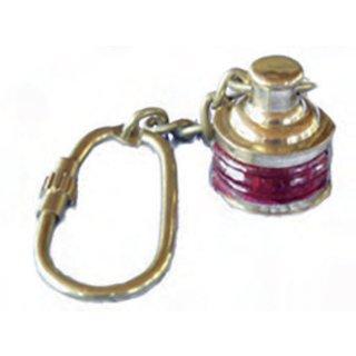 Messing-Schlüsselanhänger  Backbordlampe
