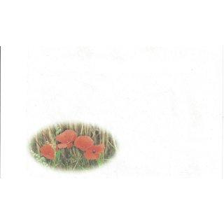 Briefumschläge C6 Klatschmohn, 20 Stück